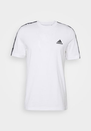 ESSENTIALS TRAINING SPORTS SHORT SLEEVE TEE - Printtipaita - white/black