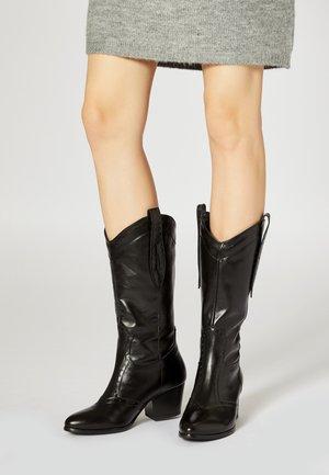 Kovbojské/motorkářské boty - noir