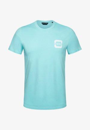 SALTWATER - Print T-shirt - aqua