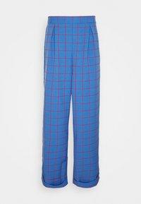 Vintage Supply - WIDE LEG CHECKED TROUSER - Pantalon classique - blue - 0