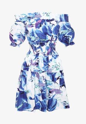 NAPOLI - Day dress - weiß / kornblumenblau