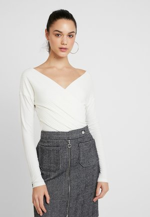CRISS CROSS SHOULDER - T-shirt à manches longues - white
