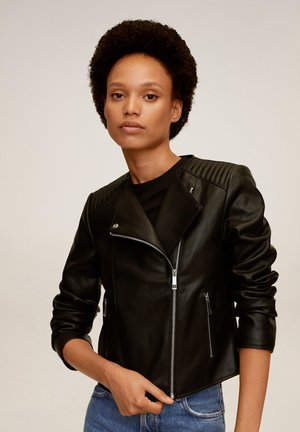 MARCMOTO - Faux leather jacket - schwarz
