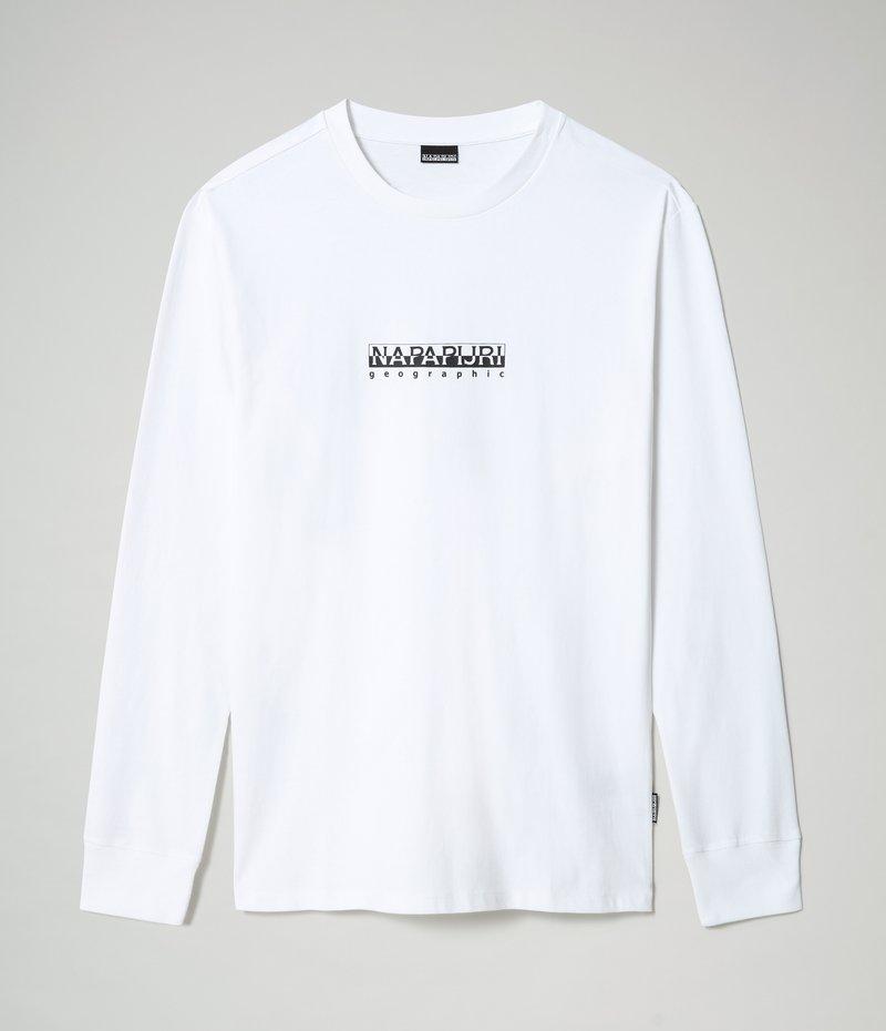 Napapijri - S-BOX LS - Long sleeved top - bright white