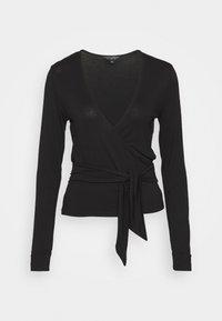 Dorothy Perkins - WRAP BALLET  - Long sleeved top - black - 0