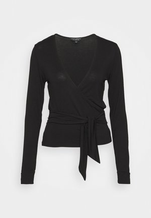 WRAP BALLET  - Long sleeved top - black