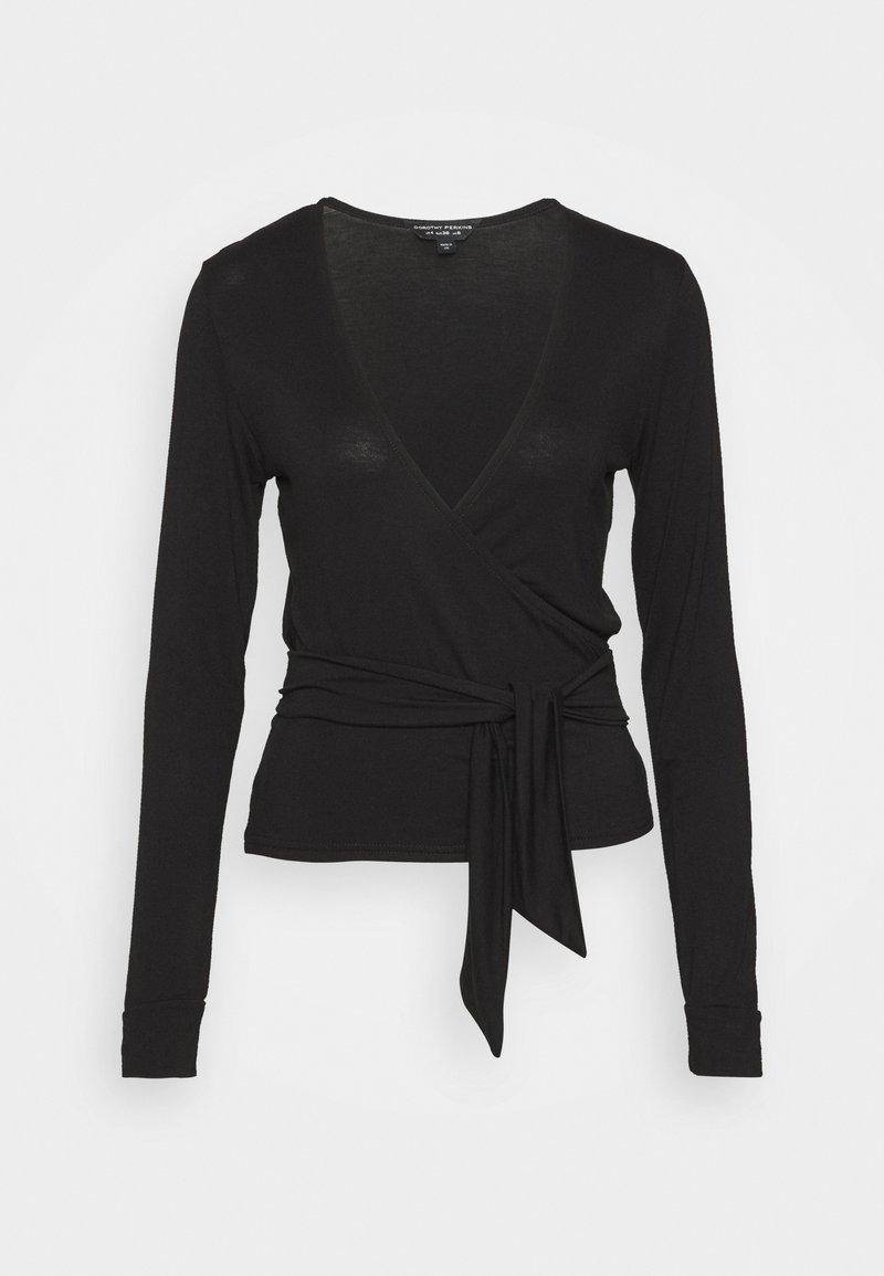 Dorothy Perkins - WRAP BALLET  - Long sleeved top - black