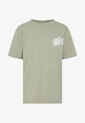 FRONT BACK GRAPHIC TEE - T-shirts print - khaki