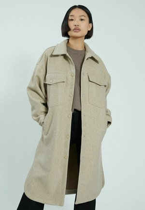 OVERSIZED CLASSIC WITHOUT LINING - Classic coat - kastanienbraun