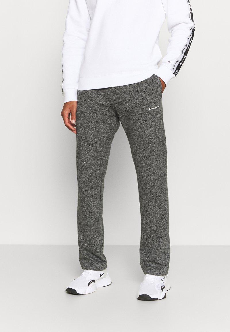 Champion - STRAIGHT HEM PANTS - Verryttelyhousut - grey dark melange