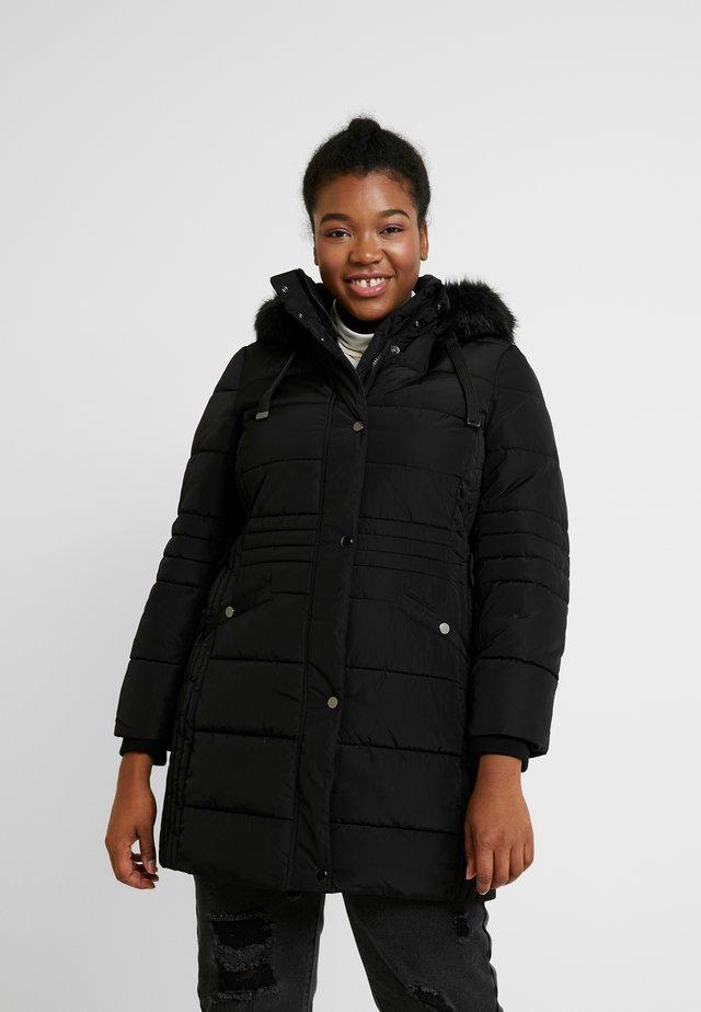 TAB SIDE PADDED COAT - Krátký kabát - black