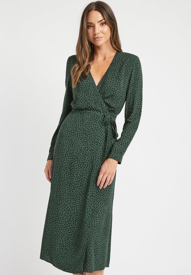 Korte jurk - nu-vert foret