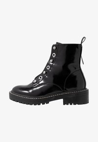 ONLY SHOES - ONLBOLD LACE UP BOOTIE - Lace-up ankle boots - black - 1