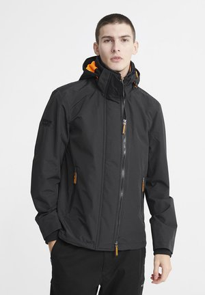 SUPERDRY TECH HOOD POP ZIP SD-WINDCHEATER JACKET - Windbreaker - black
