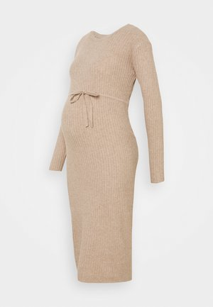 PCMSUNA MIDI DRESS - Jumper dress - natural/melange