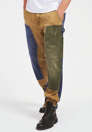 Jeans a sigaretta - mehrfarbig beige