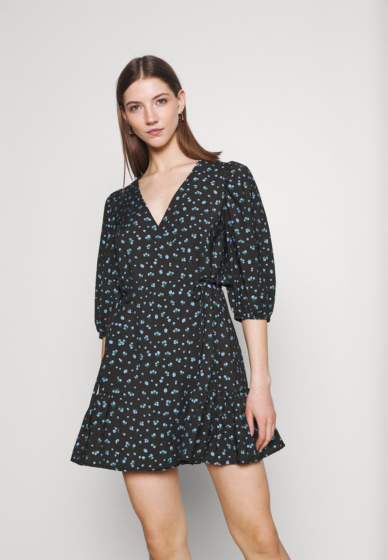 EDITED - GEMMA DRESS - Vestido informal - schwarz/blau/mischfarben