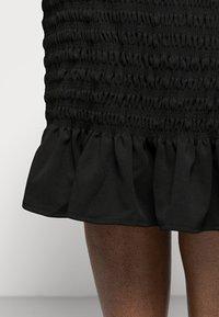 New Look Curves - SHIRRED PLAIN BARDOT MIDI - Day dress - black - 4