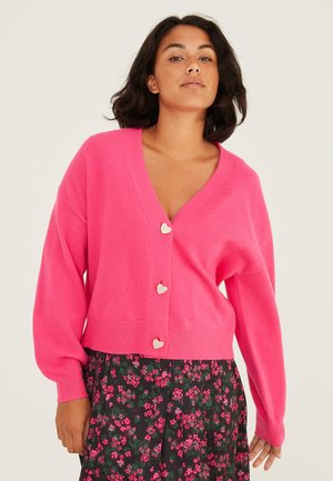 HEART BUTTON  - Chaqueta de punto - pink