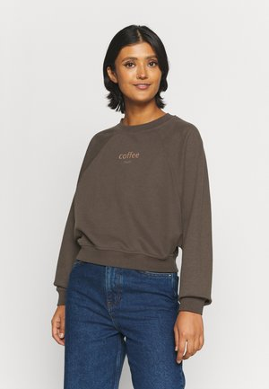 ONLBELLA LIFE BATWING O-NECK - Sweatshirt - mulch