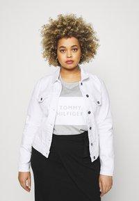 ONLY Carmakoma - CARWESPA LIFE JACKET - Denim jacket - white - 0