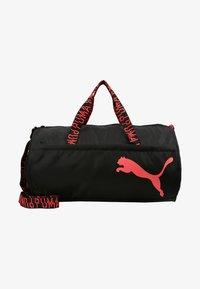 Puma - ESS BARREL BAG - Sports bag - black/pink alert - 6