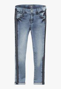 Blue Effect - GIRLS STREIFEN CROPPED - Jeans Skinny Fit - light blue - 0