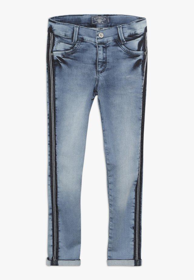 GIRLS STREIFEN CROPPED - Jeans Skinny Fit - light blue