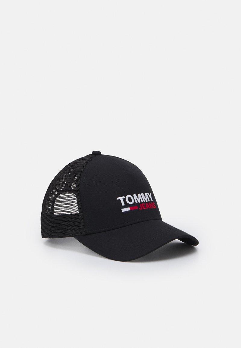 Tommy Jeans - FLAG TRUCKER UNISEX - Keps - black