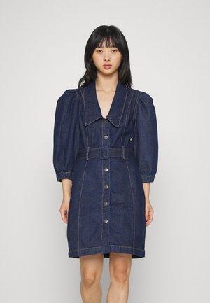 OBJMARIKA DRESS  - Spijkerjurk - dark blue denim