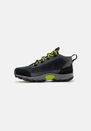 YOUTH FLOW BOROUGH LOW UNISEX - Hiking shoes - graphite/acid green