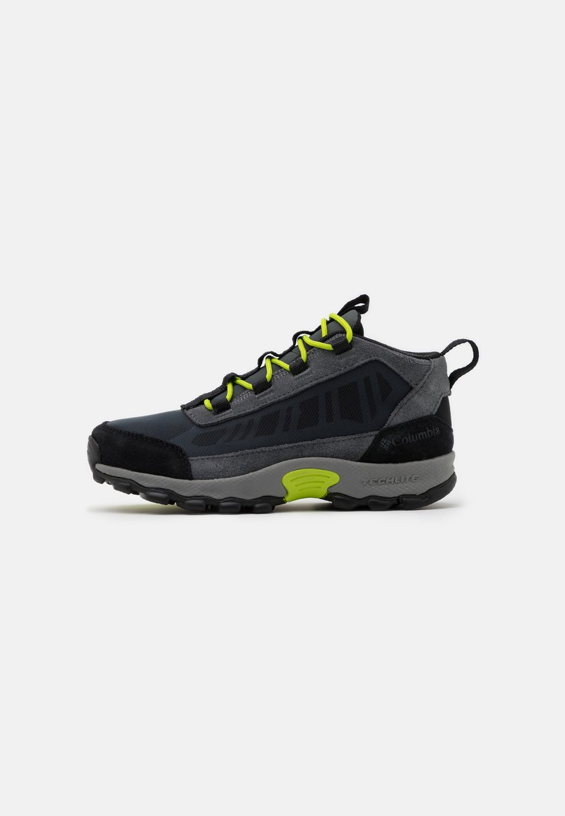 Columbia - YOUTH FLOW BOROUGH LOW UNISEX - Hiking shoes - graphite/acid green