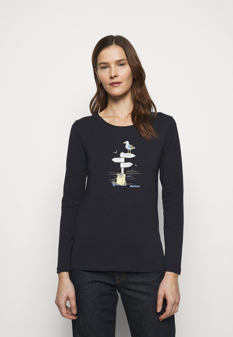 Barbour - SEAGRASS TEE - Long sleeved top - navy