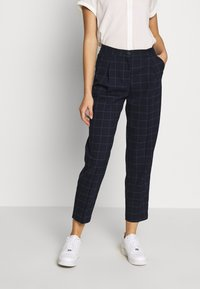 Monki - TARJA TROUSERS - Bukse - blue dark - 0