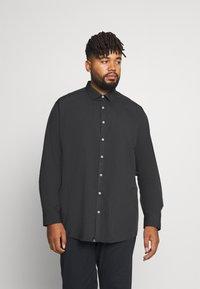 Jack´s Sportswear - FIL A FIL SHIRT BOX COMFORT FIT - Skjorta - dark grey - 0