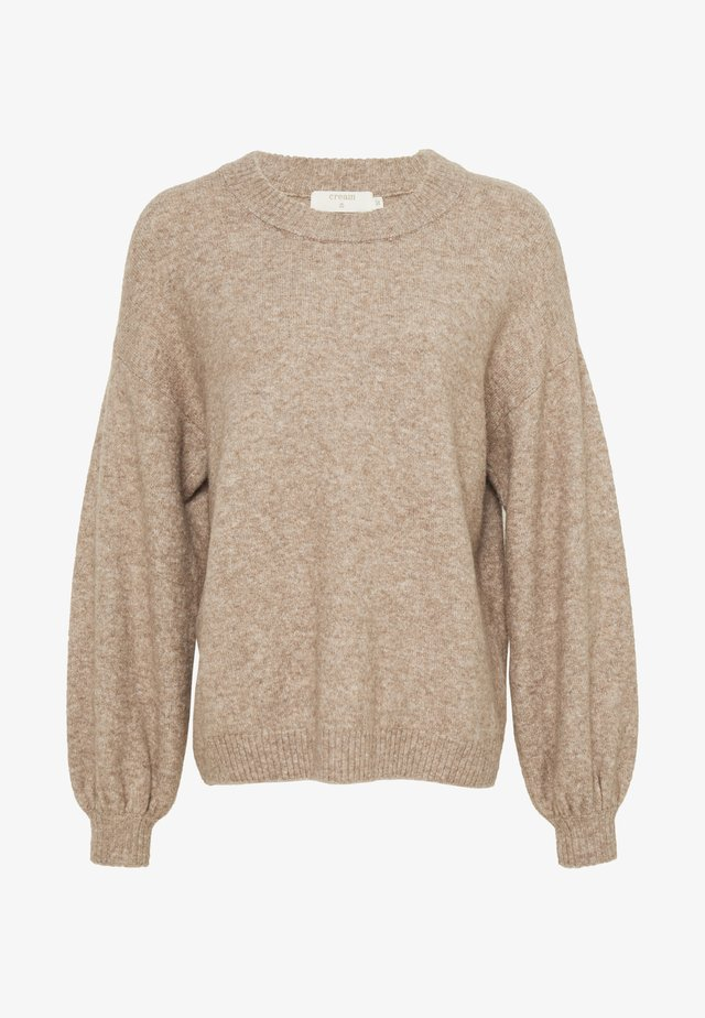 ANGHACR - Strickpullover - taupe gray melange