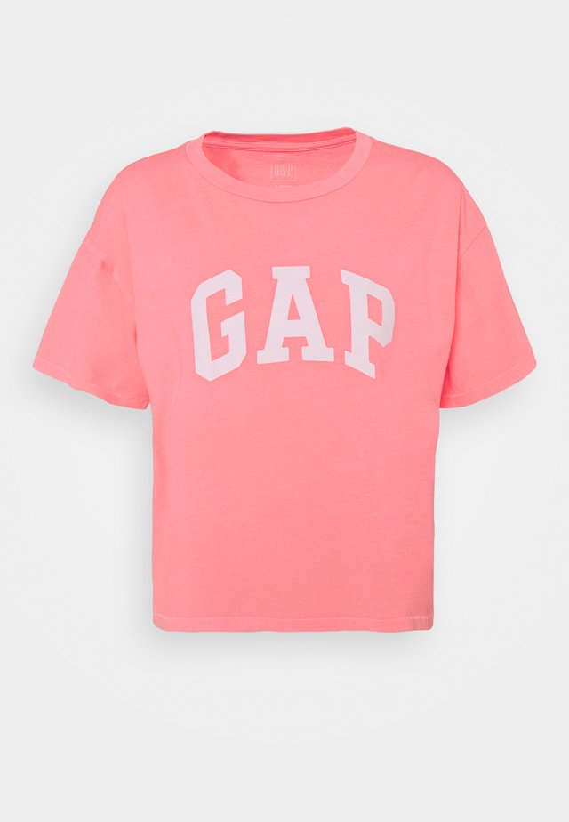 EASY TEE - T-shirts med print - neon coral volt