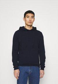 Wool & Co - CAPPUCCIO CUCITURE ESTERNE - Jumper - blu - 0