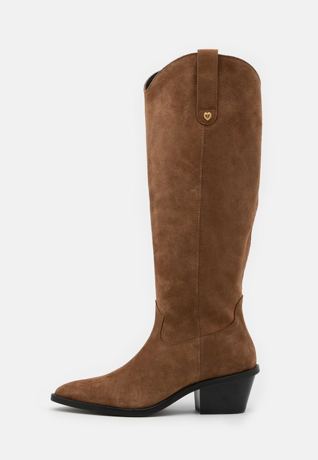 HOLLY KNEE HIGH  - Cowboy/Biker boots - cognac