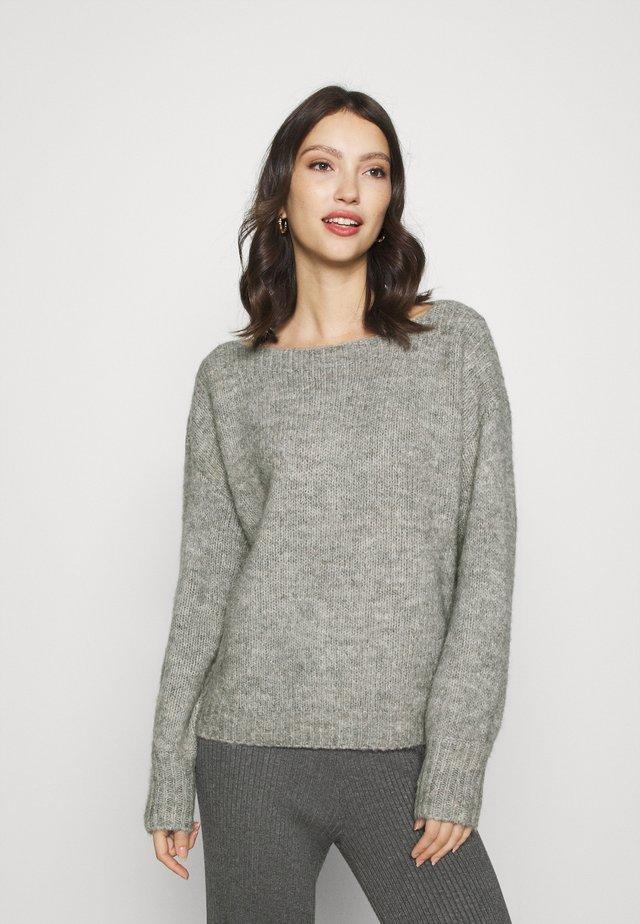 ONLJAZZIE BOATNECK - Sweter - light grey melange