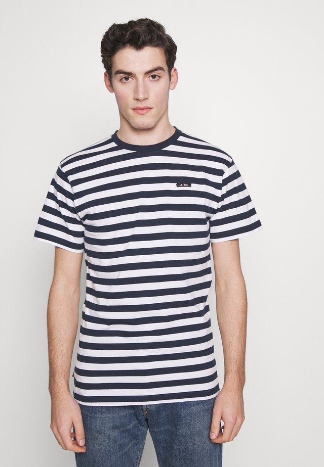 T-shirt imprimé - white/navy