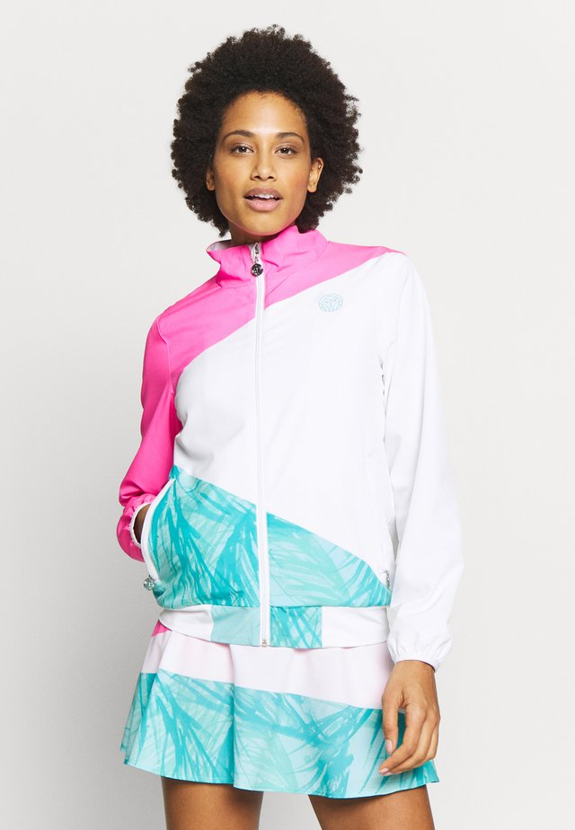 GENE JACKET - Veste de survêtement - pink/white/mint