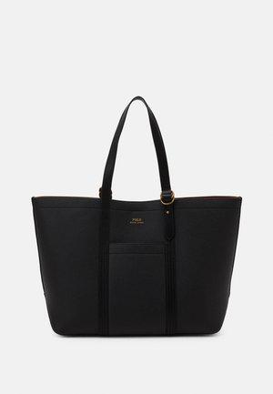 PEBBLED CLASSIC TOTE - Shopping bag - black
