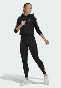 adidas Performance - DESIGNED TO MOVE BIG LOGO SPORT LEGGINGS - Collants - black - 1
