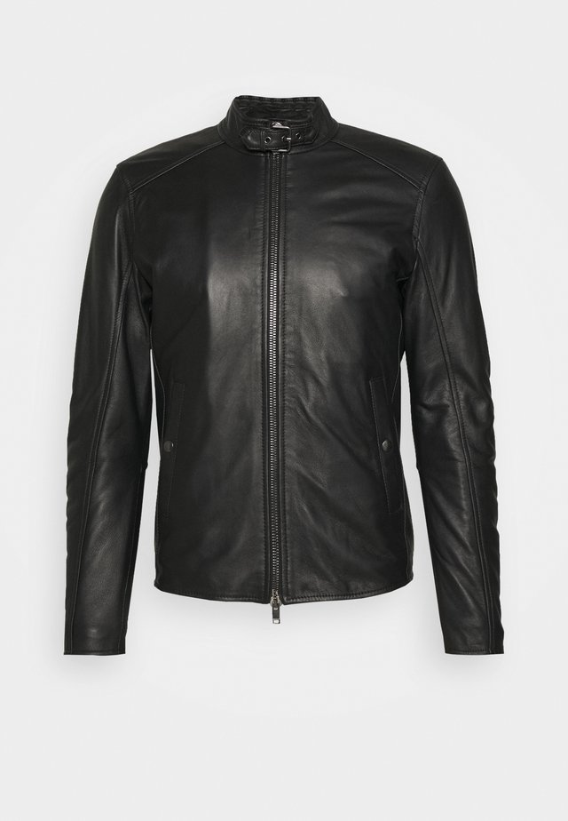 BIKER - Leather jacket - black