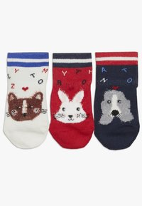 Tommy Hilfiger - BABY SOCK GIFTBOX BABY 3 PACK - Sokker - red/grey/blue - 1