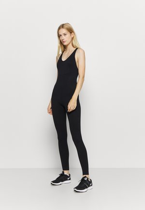 CROSS BACK LONG BODYSUIT - heldragt - black