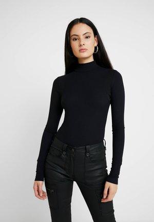 TRACTION SLIM BODY FUNNEL WMN L\S - Long sleeved top - dark black