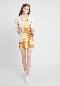 Vila - VITINNY NEW DRESS - Shift dress - golden oak/snow white - 2