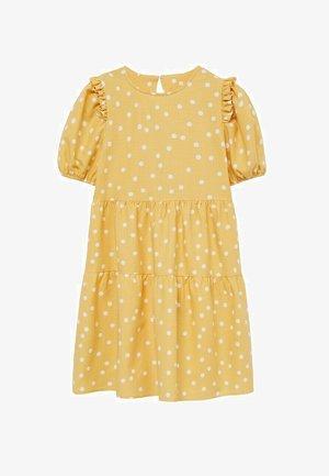Korte jurk - mosterd